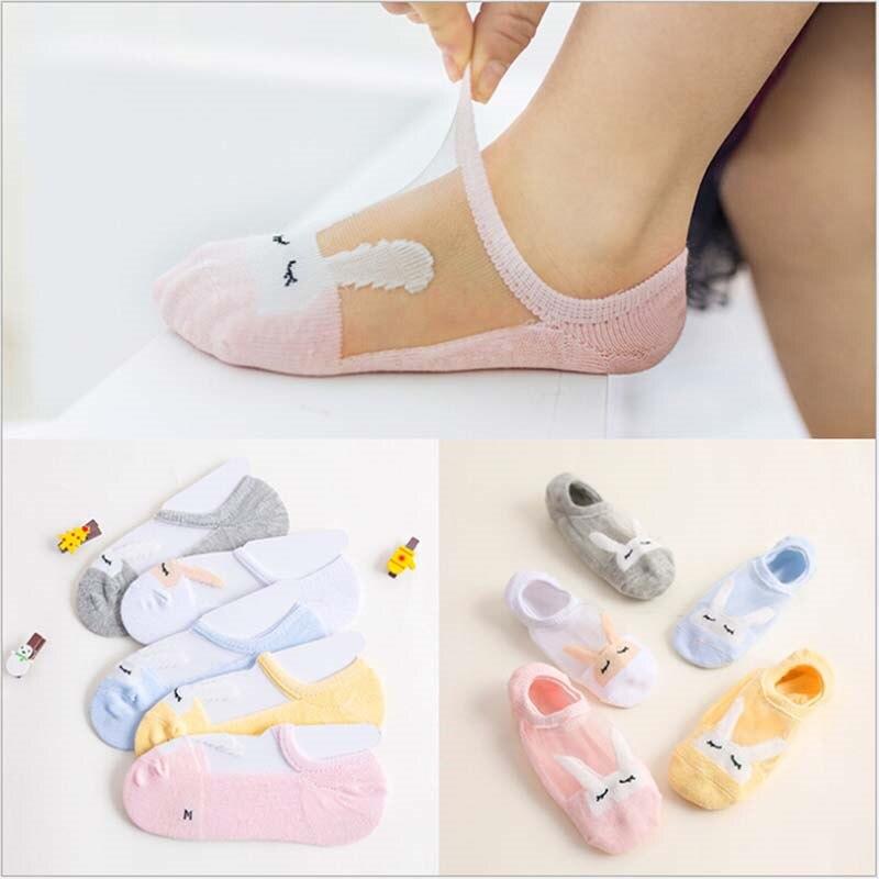 5 Pairs/Lot High Quality Cotton Supple Short Socks 2-11 Years Summer Baby Girl Mesh Cool Sock Lovely Rabbit Kids Socks