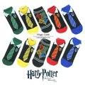 Искусство смешно Женщин Хлопчатобумажные носки гарри поттер женский 3d Косплей Хэллоуин Галстук Шаблон Хип-Хоп короткие носки 5 пар/лот