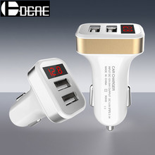 USB Car-Charger with LED Screen Smart Auto Car Charger Adapter Charging for iPhone 7 6S Samsung Xiaomi Car Mobile Phone chargers