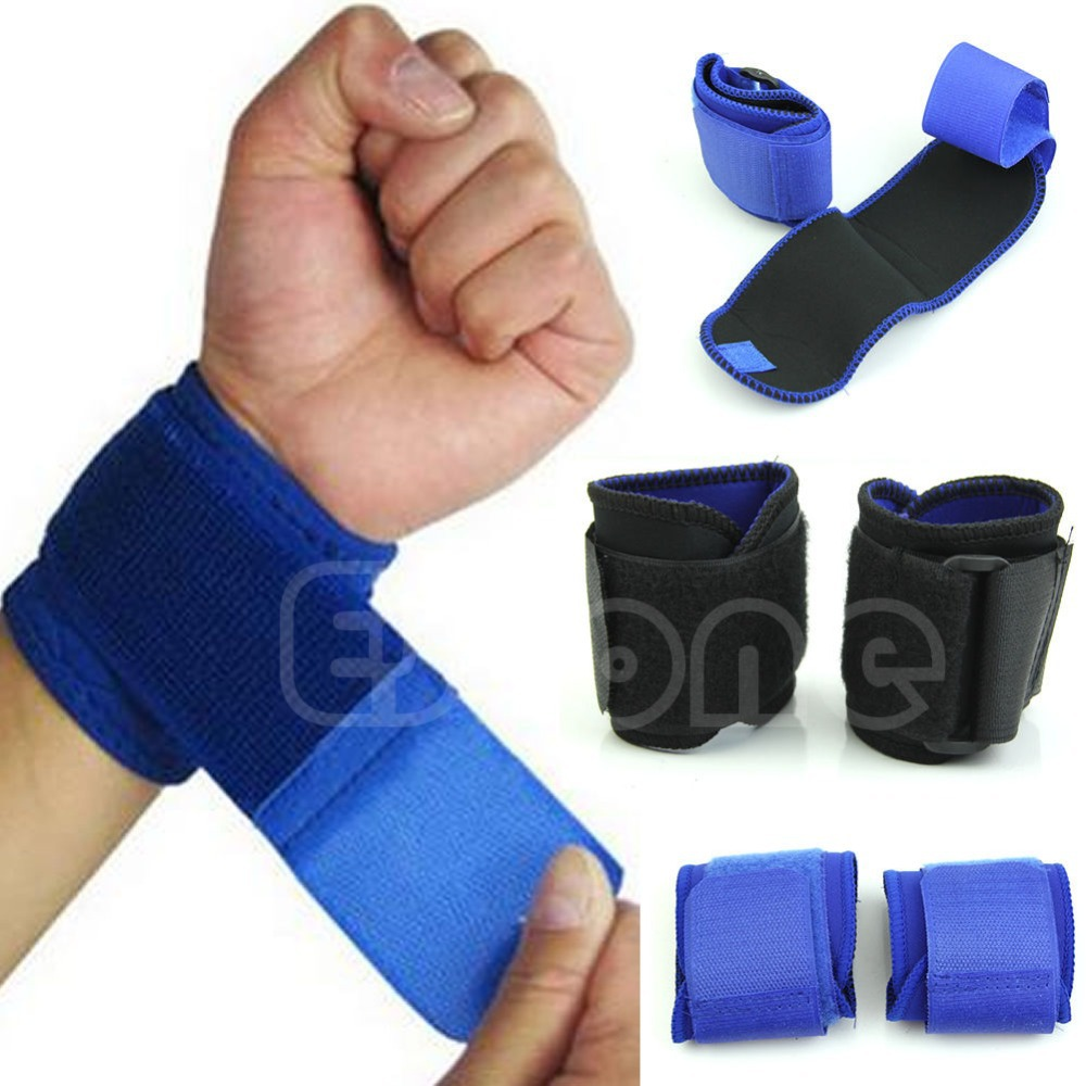 New Adjustable Sports Wrist Brace Wrap Bandage Support Gym Strap Wristband Drop Ship