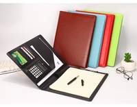 1PC Multifunctional Zipper Leather Business Manger Bag A4 File Folder Organizer with Ipad Stand USB Rigid Disk Fasterner
