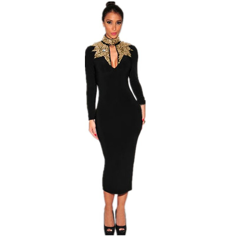 Online Get Cheap Plus Size Black and Gold Sequin Dress -Aliexpress ...