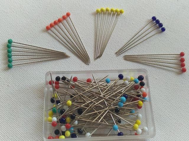 Moda 100 unids/lote agujas de coser 32mm cabeza de cristal cuentas agujas para máquinas de coser titular cabeza de cristal pines conjunto de agujas de tejer