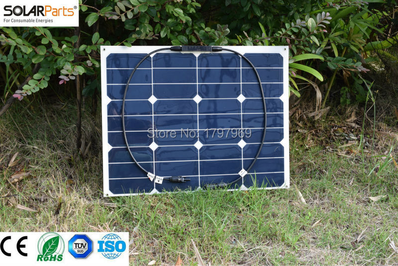 40W Flexible Photovoltaic Solar Panel sunpower cell, solar module for 12V portable charger of usb car cell phone 18650 battery