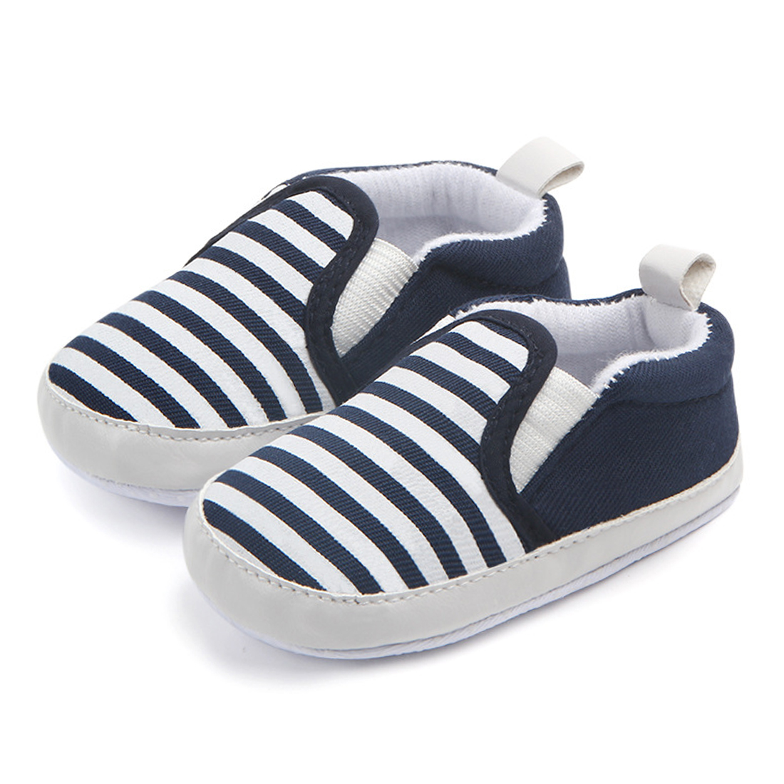 61e573c33db Fashion Baby Boy Shoes Soft Sole First Walkers Slip on Newborn Loafers  Infant Girl Slippers Toddler Trainers Stripe House Shoes