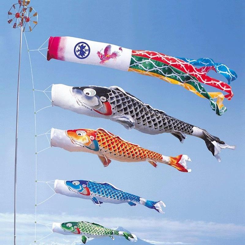 40/70/100 см японский стиль Карп ветер носок, флаг колокольчики ветра висячие украшения двора Koinobori подвесной Декор #265902