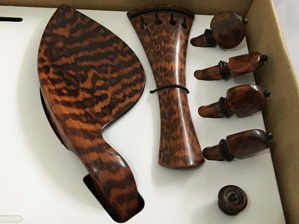 1 set high quality Snakewood violin fittings 4/4, violin parts accessorie #0610 violin peg tailpiece Chinrest regenbogen life эмден 645010401