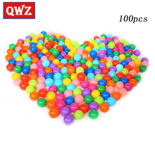 QWZ 100pcs Eco-Friendly Colorful Plastic Ball Toys Soft Ocean Balls for The Pool Baby Swim Pit Toy Stress Air Ball Outdoor Fun