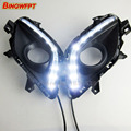 Dimming style relay Waterproof 12V LED DRL daytime running lights with fog lamp hole for Mazda 6 Atenza 2013 2014 2015