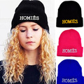 Fashion Casual New Brand HOMIES Beanies Hat knitted wool hats for Women Head Cap Men Letters hip-pop hats Gorros Bonnets 1MZ0264