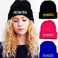 Moda Casual Brand New HOMIES Gorros Sombrero de lana de punto sombreros para Mujeres Cabeza Hueca Hombres Cartas hip-pop sombreros Gorros Capos 1MZ0264
