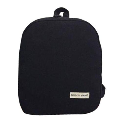 Обувь для девочек Для женщин холст школьная сумка Дорожная Рюкзак сумка рюкзак черный