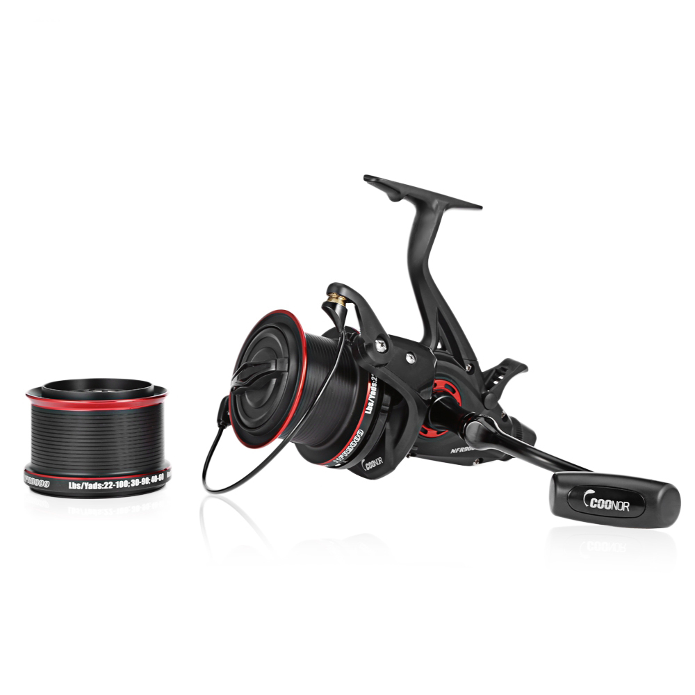 Spinning Fishing Reel 12 + 1BB 4.6:1 NFR9000 + 8000 Full Metal Coils Wheel with Double Spool Pinwheel Carp Dropshipping image