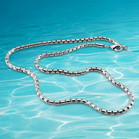 925 sterling silver necklace for men,fasion jewellery men necklace; Width 5MM length 51cm.Short necklace box chain