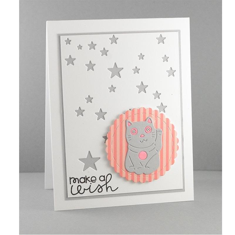 Cute Fortune Cat Metal Cutting Dies Stencils For Card Making Decorative Embossing Suit Paper Cards DIY Dies Scrapbooking 2018
