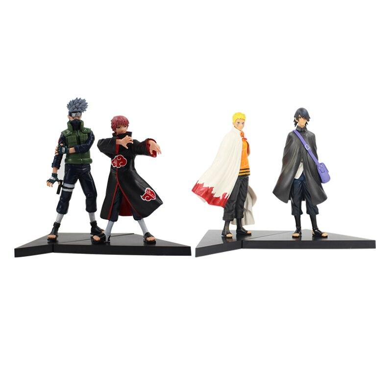 2 Stks/partij 16-18 Cm Anime Naruto Shippuden Figuur Toy Hatake Kakashi Sasori Pvc Action Model Collection Beeldje Pop gratis Verzending