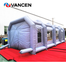 Gray inflatable spray booth customized portable car washing tent free 2 pieces air blowers paint