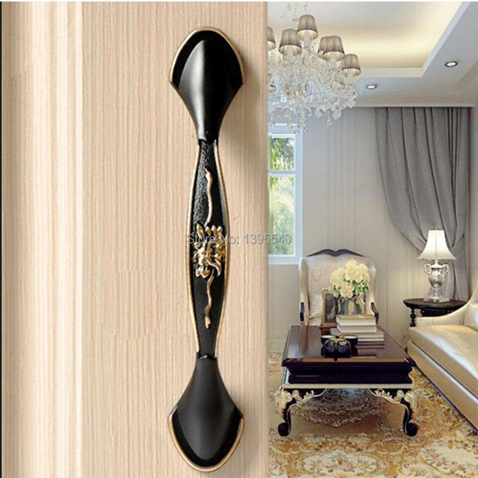 ᐂNueva 96mm negro gabinete de cocina de la manija y perillas de ...