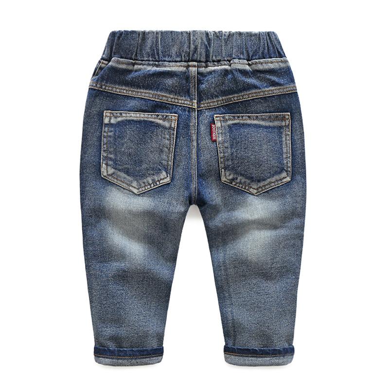 Hole Jeans For Boys Elastic Waist Kids Denim Trousers Kids Cowboy Harem Pants Solid Boy Jeans 2017 Spring Children Jeans 2-6 Y  (11)