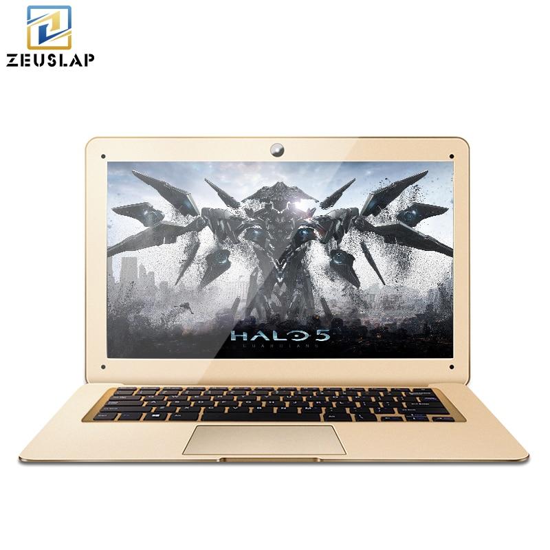 RU наличии zeuslap 8 ГБ ОЗУ 120 ГБ SSD 500 ГБ HDD Оконные рамы 10 ультратонкие 4 ядра быстрая загрузка Тетрадь компьютер ноутбук