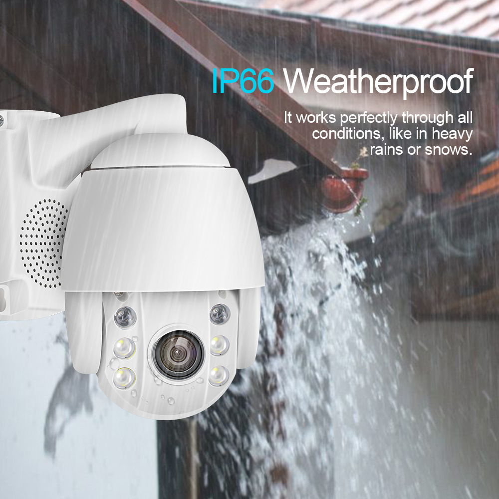 Image 3 - Super Mini PTZ Speed Dome WIFI IP Camera 1080P Outdoor 5x Optical Zoom 2MP Wireless Camera IR ONVIF Two Way Audio Talk-in Surveillance Cameras from Security & Protection