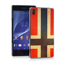 flags Pretty Funny UV Black Bag Case For Sony Z2