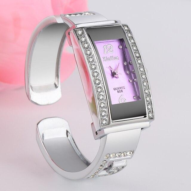 Xinhua Top Luxury Diamond Bracelet Watch Women Watches Steel Bangle Women's Watc