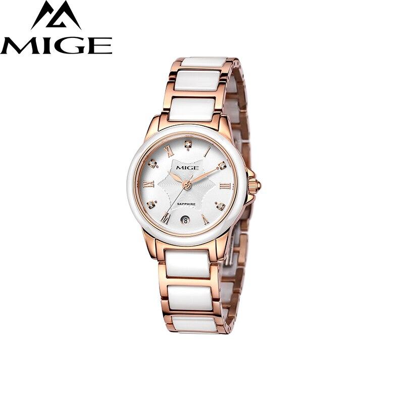 Лидирующий бренд белые керамические японские кварцевые женские часы для леди Relogio Saat Montre Horloge Feminino Bayan Femme ceramic BERNY - 2