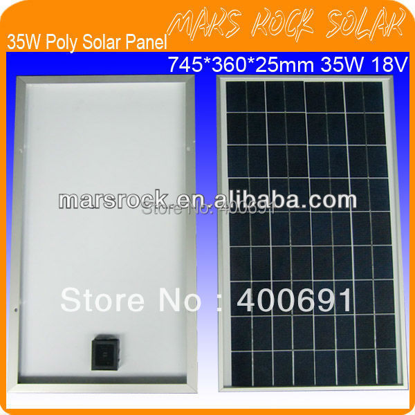 35W 18V Polycrystalline Solar Panel Module with Special Technology, High Efficiency, Long Lifecycle, Fend Against Snowstorm&Hail 35w 18v polycrystalline solar panel module with special technology high efficiency long lifecycle fend against snowstorm