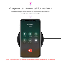 Baseus UFO Wireless Charger For iPhone X 8 Samsung Note8 S9 S8 Mobile Phone 10W Qi Wireless Charging Charger Fast Charging Pad 2