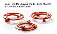 Lock-ring (retaining-plate, holder) for Philips Shaving heads model/type SH70 and SH90 colour orange