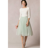 Detachable Skirt Tutu Tulle Bridesmaid Skirt Custom Make Color Knee Length Women Summer Formal Skirt