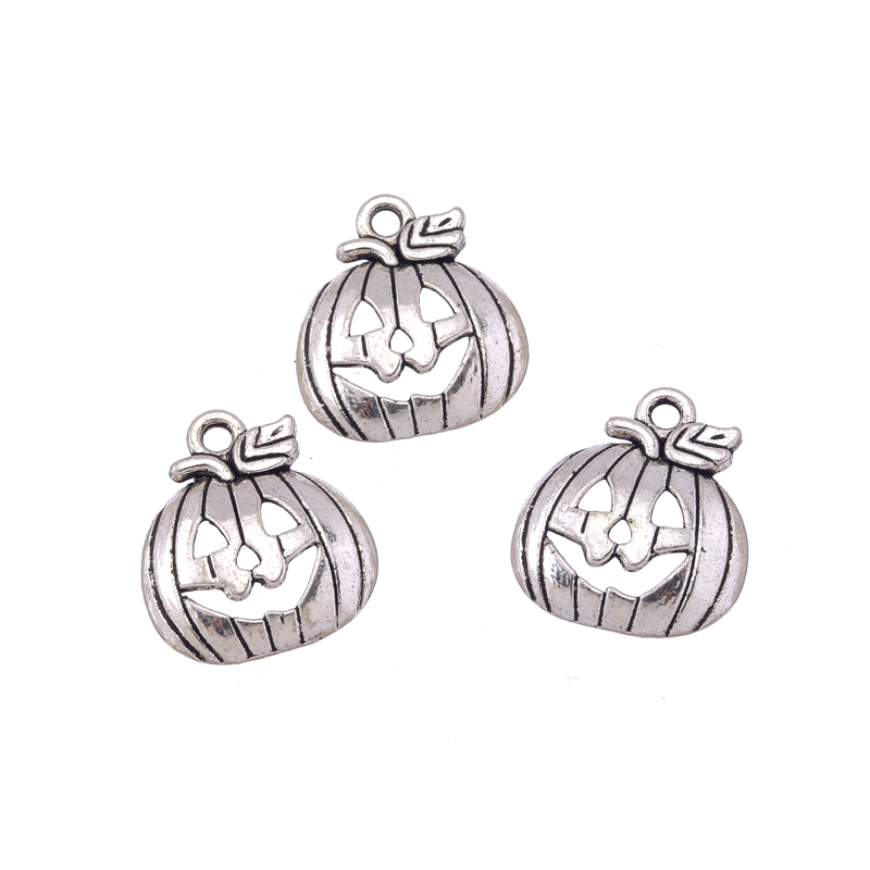 10 Tibetan Silver Pumpkin Pendant Charms Halloween