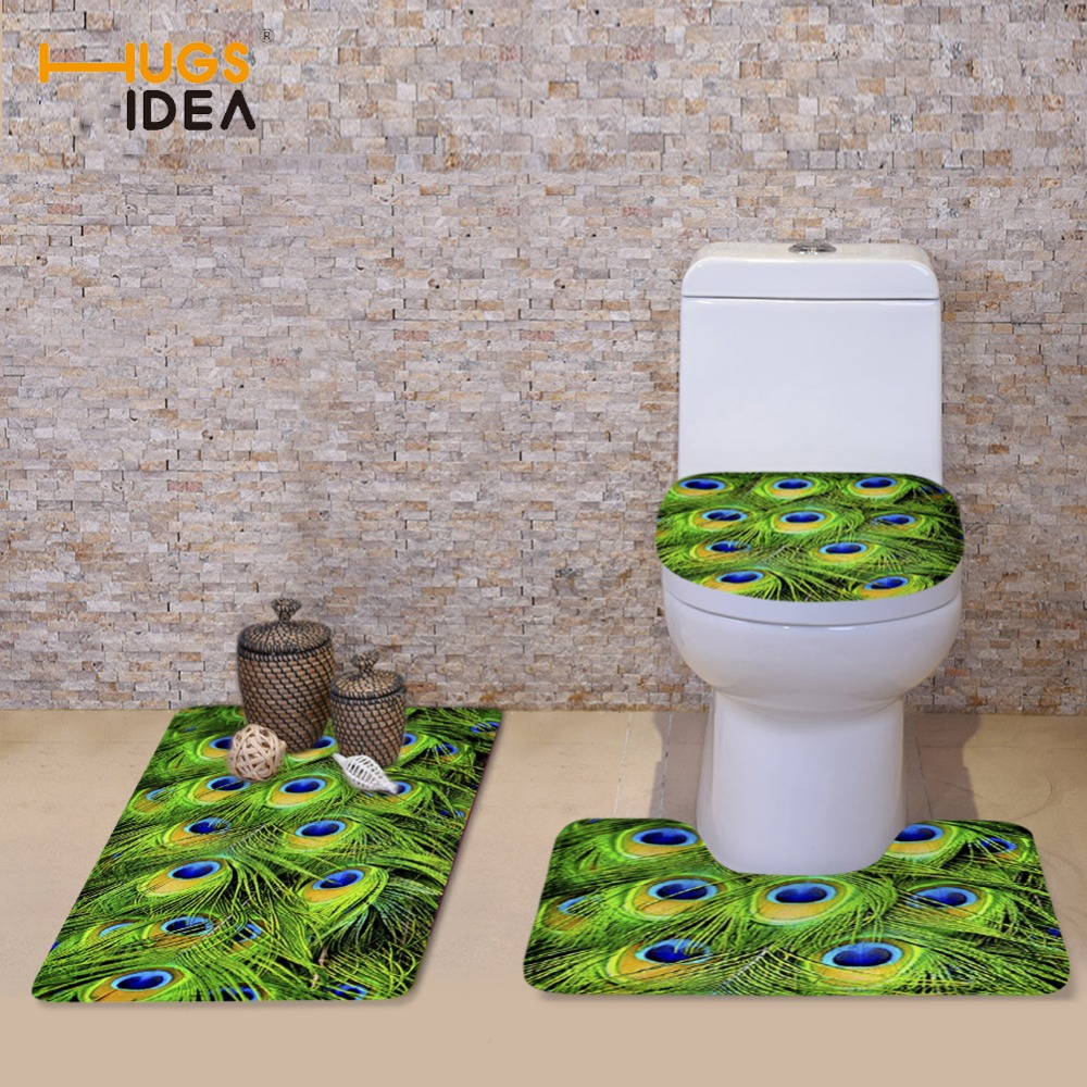 HUGSIDEA 3PCS बाथरूम शौचालय सीट - होम बर्तन