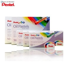 TUNACOCO 12/16/25/36/50pcs/set Japanese PENTEL Oil Pastel For Art For Children's Graffiti Washable Oil Pastel Bb1710114