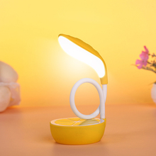 Eye-Protective Chargeable LED Table Lamp USB Soft Light Lemon Shaped 360 Degree Twist And Modelling