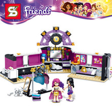 SY379 friends series Pop Star The dressing room 312pcs building blocks bricks toys children gift Compatible With Lego 41104
