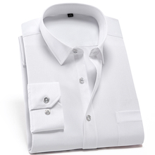 Men's Classic Standard-fit Non Iron Stretch Dress Shirt with Chest Pocket Long S
