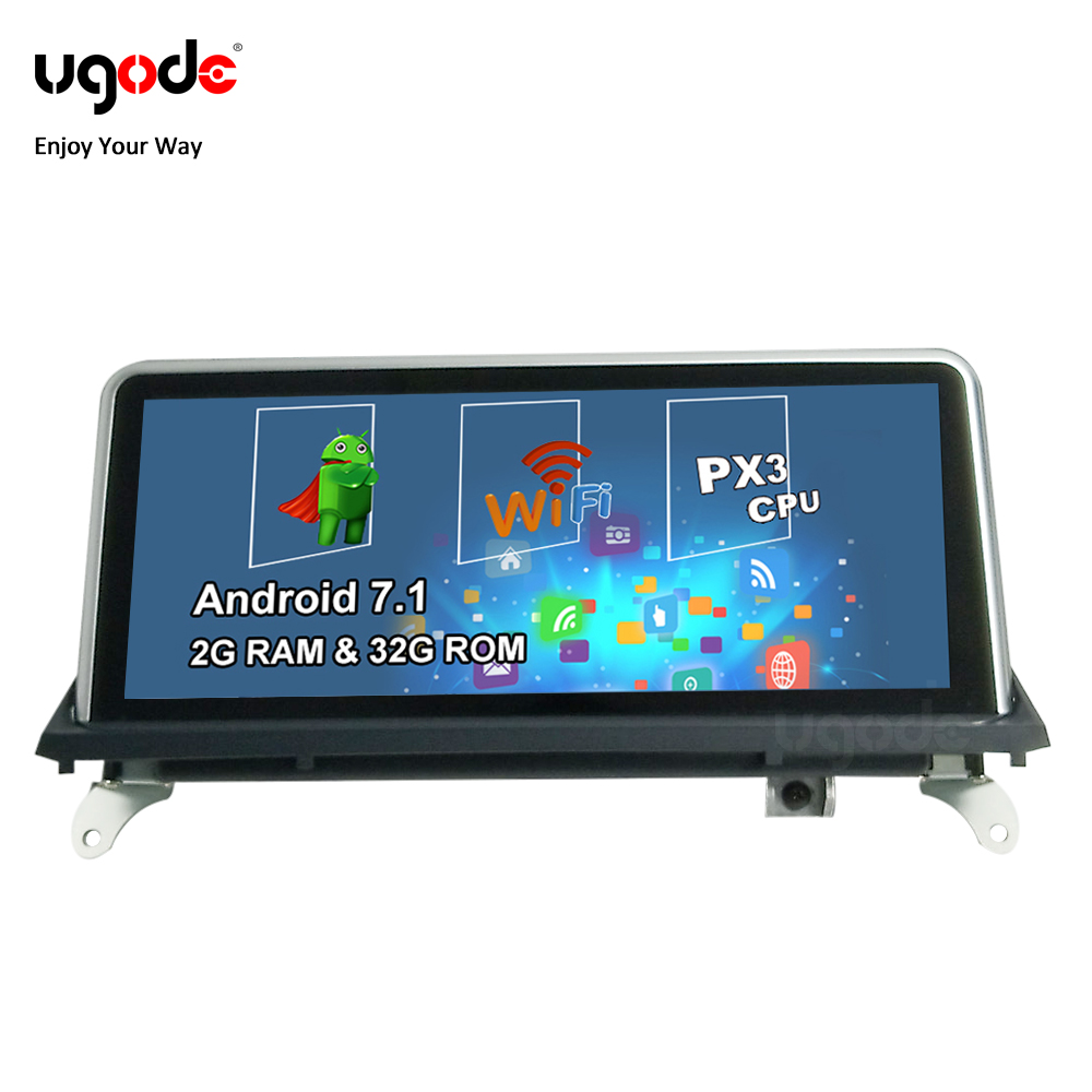 Ugode Android Car Multimedia Stereo GPS Navigation Player for <font><b>BMW</b></font> <font><b>X5</b></font> <font><b>E70</b></font> X6 E71 CIC CCC OS 7.1 System 32G ROM Popular Model image