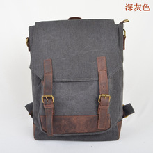 YISHEN Unisex European And American Style Backpack Casual Travel Rucksack Vintage Fashion Large Capacity Canvas Backpack MS1914