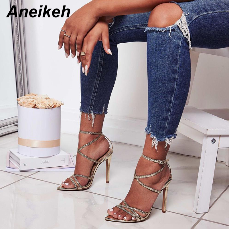 Aneikeh 2019 Sexy Sandals Women's Shoes
