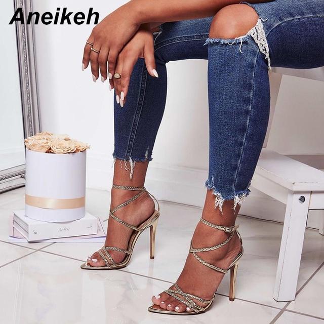 Aneikeh 2019 Sexy Sandals