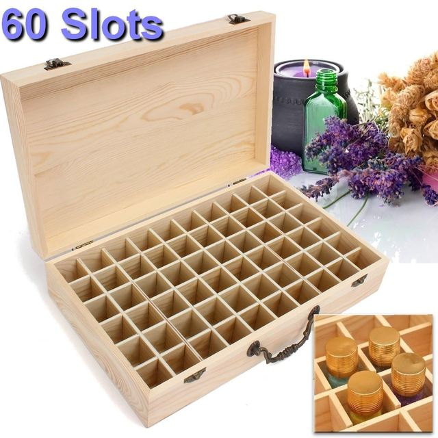 60 Slots Wooden Essential Oils Box Jewelry Organizer Storage Case Decorative Boxes For Home Decoration Crafts  sc 1 st  AliExpress.com & 60 Slots Wooden Essential Oils Box Jewelry Organizer Storage Case ...