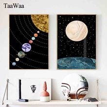 TAAWAA Abstract Constellations Universe Nursery Wall Art Canvas Painting Posters and Prints Decorative Picture Kids Room Decor