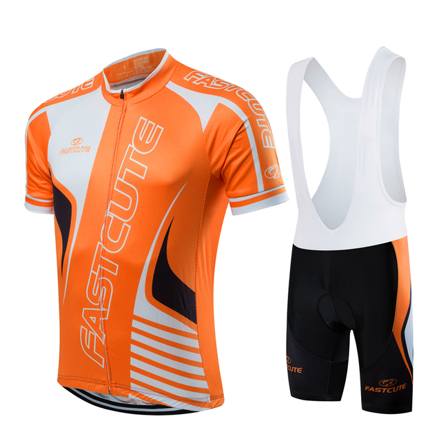 FASTCUTE Brand Pro Bicycle Wear Maillot Ropa Ciclismo Short Sleeve  Breathable Cycling Jersey set With Bike Cycling Bib Shorts ca7369797
