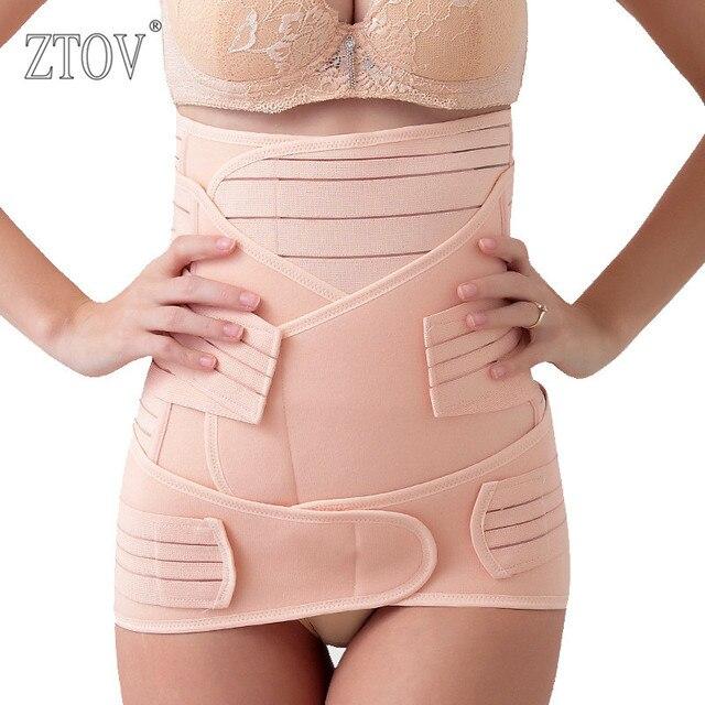 ZTOV 3 Pieces/Set Maternity Postnatal bandage After Pregnancy Belt Underwear Intimates Postpartum Belly Band for Pregnant Women