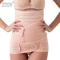 ZTOV 3 unids/set maternidad vendaje Postnatal después del embarazo cinturón ropa interior íntima postparto vientre banda para mujeres embarazadas