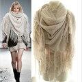 Wj70 recién llegado 2014 otoño invierno de gran tamaño bufanda Mohair caliente hecho punto largo borlas mantón de las bufandas 6 colores liberan el envío