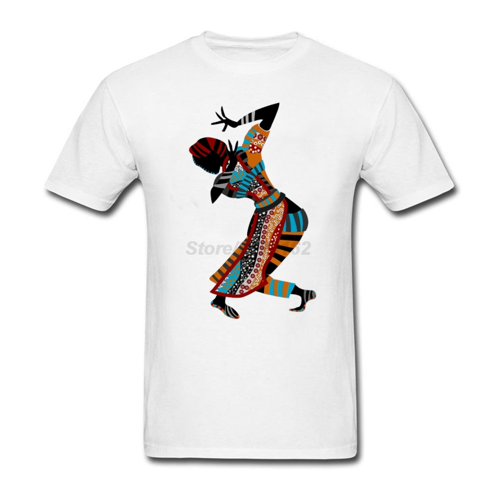 Oversize Для мужчин страна футболка Африке женщина Танцы арт perfect Танцы женщина живопись Блузки для малышек для джентльмена Дизайн Для мужчин S ... ...