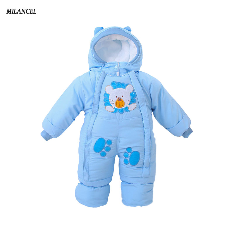 Autumn & Winter Baby Clothes Infant One Piece Baby Rompers Fleece Clothing Baby Snowsuit Cotton padded Babe Overalls 2-12M